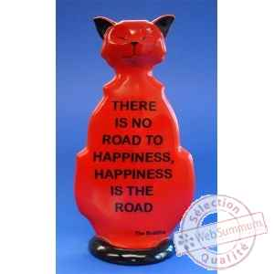 Figurine chat - wise cat road to happiness - wic05