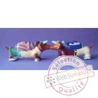 Figurine hot diggity chien teckel golfers  - hot16489