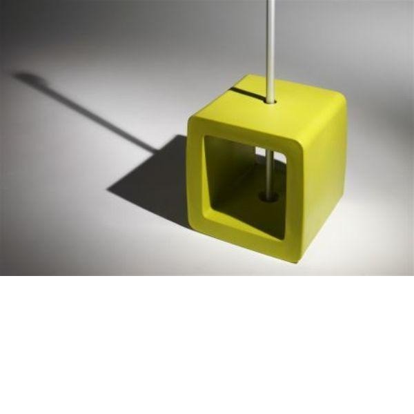 Video Pied de parasol Sywawa Socle Cube Pouf lime -7122LIME