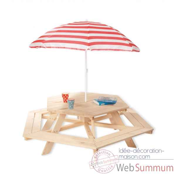 Set de table et chaises enfant \\\'nicki hexagone\\\' Pinolino -201038