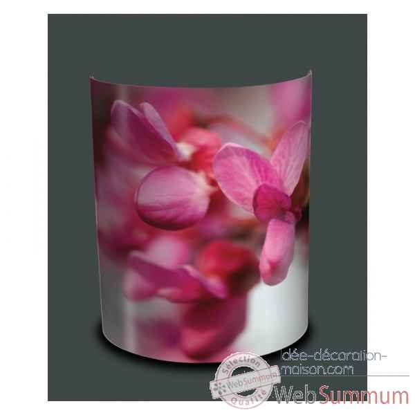 Applique murale nature orchidee rose -NA1204APP