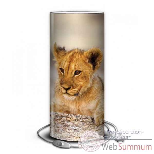 Lampe animaux sauvages lionceau -AS1201