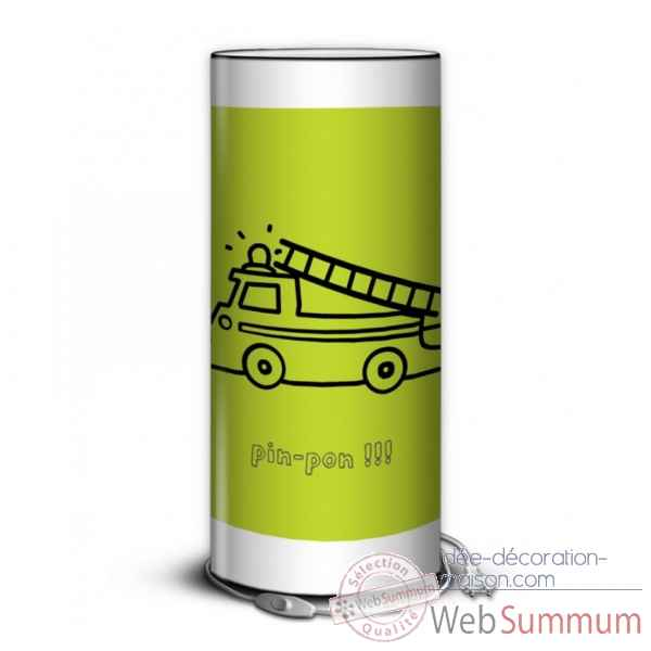 Lampe collection color camion de pompier -CO1704