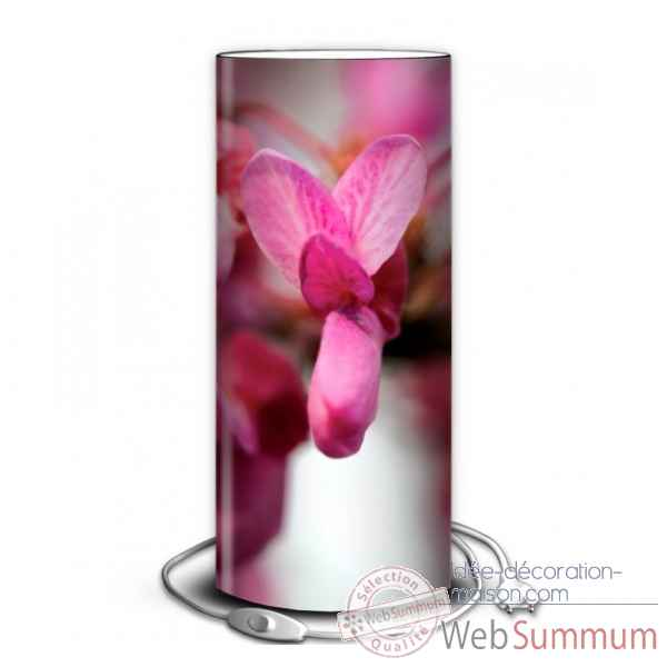 Lampe nature orchidee violette -NA1204