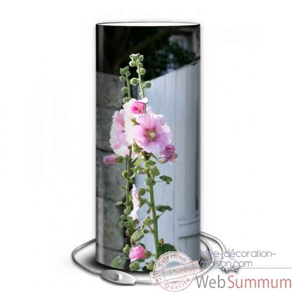 Lampe nature roses tremieres -NA1336