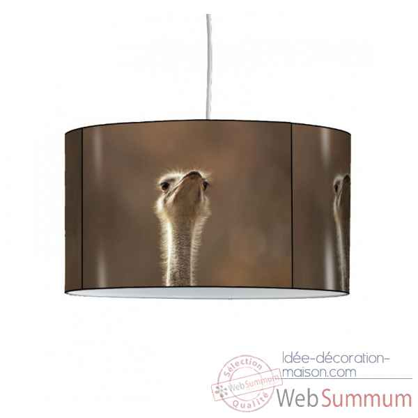 Lampe suspension animaux sauvages autruche -AS1217SUS