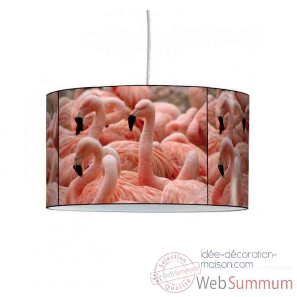 Lampe suspension animaux sauvages flamants roses -AS1216SUS