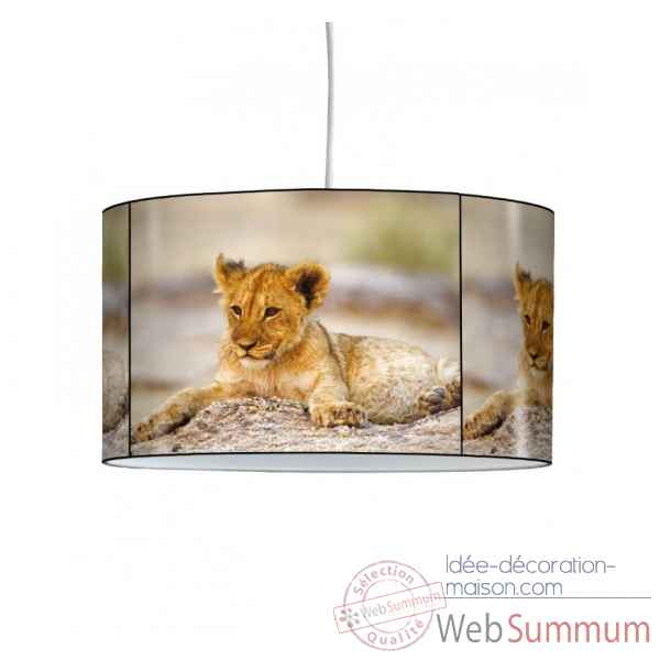 Lampe suspension animaux sauvages lionceau -AS1201SUS