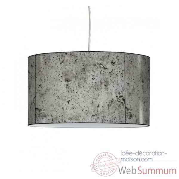 Lampe suspension collection matieres beton -MAT1336SUS