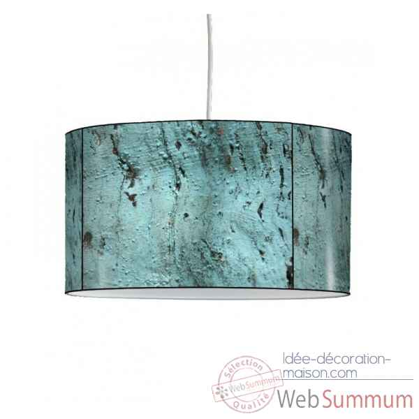 Lampe suspension collection matieres bois bleu -MAT1442SUS