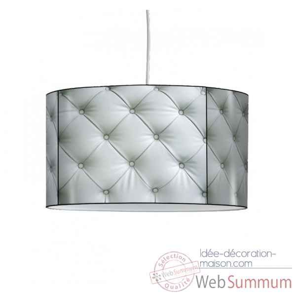 Lampe suspension collection matieres capiton blanc -MAT1308SUS