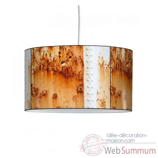 Lampe suspension collection matieres cargo rouille -MAT1337SUS