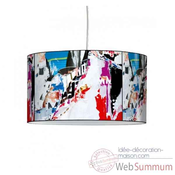 Lampe suspension collection matieres papier dechire -MAT1318SUS