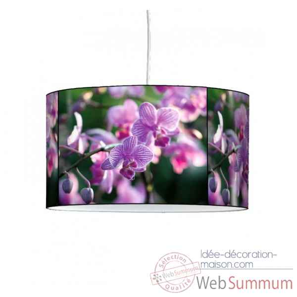 Lampe suspension nature orchidee violette -NA1338SUS