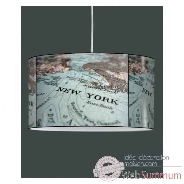 Lampe suspension tendance carte new york -TE1206SUS