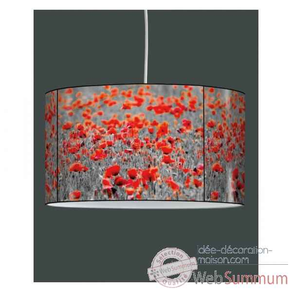 Lampe suspension tendance champ de coquelicots -TE1323SUS