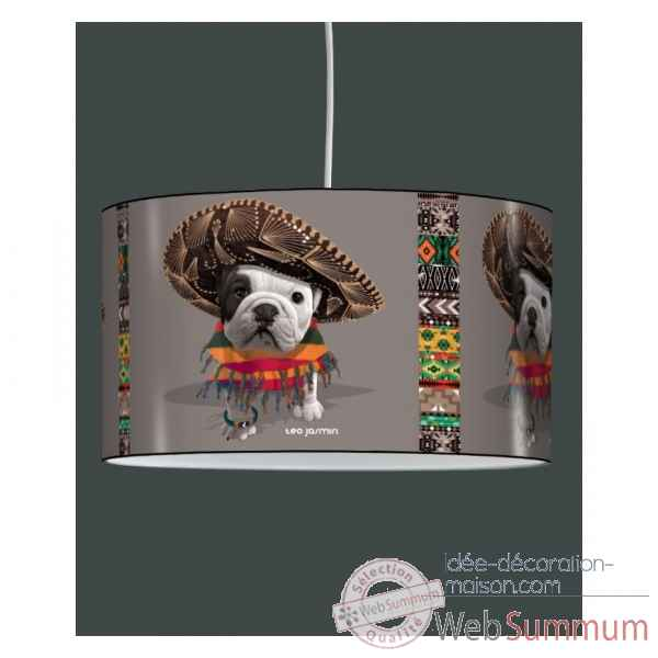 Lampe suspension teo jasmin mexicain taupe -TO1525SUS