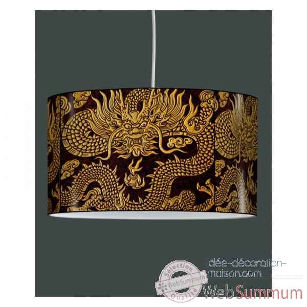 Lampe suspension zen design broderies chinoises -ZE1315SUS