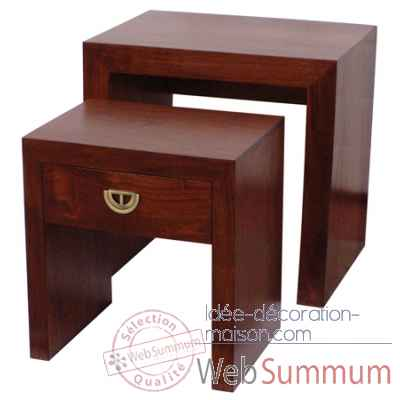 2 tables gigognes - gm, pm Produits marins Web Summum -1245