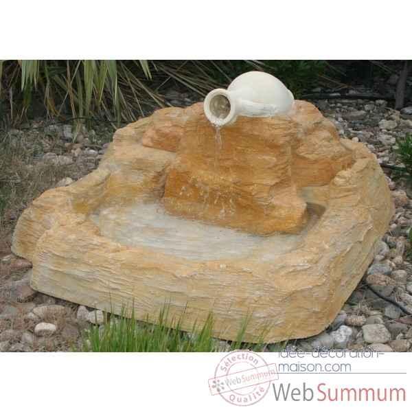 Fontaine jarre bassin rochers diffusion 027 028 photos id e d coration maison de rochers - Jarre deco jardin lyon ...