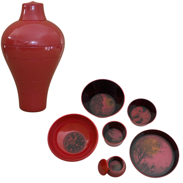 Service de table 6 pieces Ming Ibride Rouge -ming-002