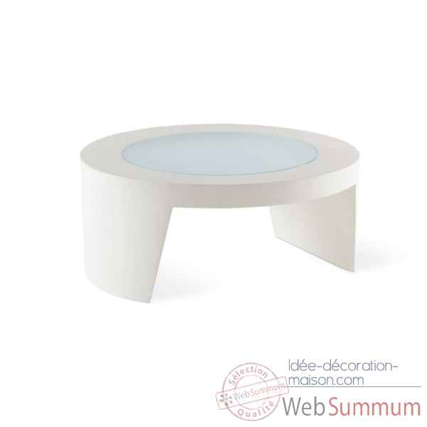 Table basse ronde design tao glass included SD TAO080