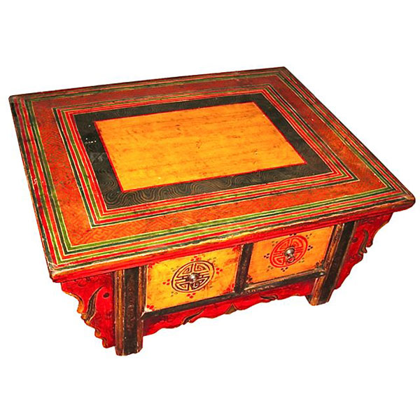 Table basse 2 tiroirs tibet style chine c0652 dans tables for Meuble chine design