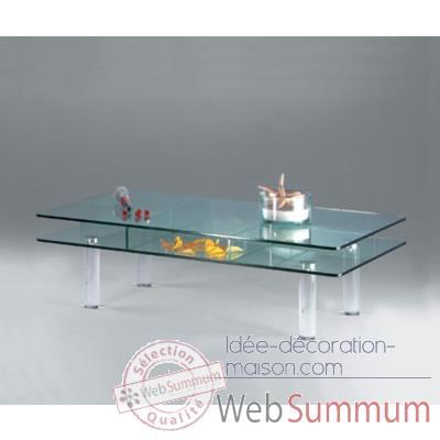 Table basse rectangulaire marais en verre tremp ct125 de marais internation - Que mettre sur une table basse ...