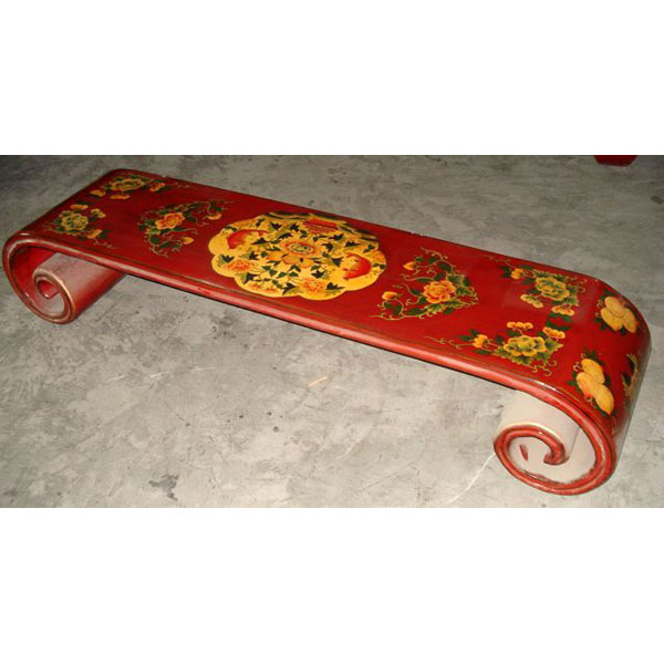 Table basse rouleau grand modele tibet style Chine -C0621