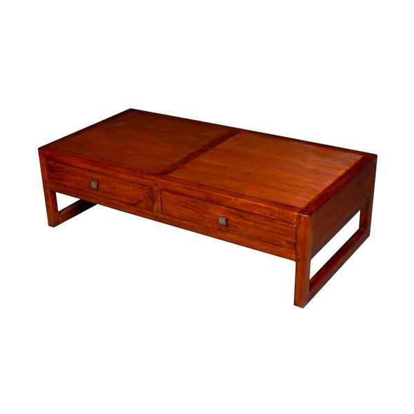 Table basse de salon avec 2 tiroirs stri meuble d 39 indon sie 53994 dans - Idee deco table basse ...