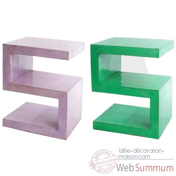 Table chevet couleur verte hindigo je27gree sur id e for Idee table de chevet