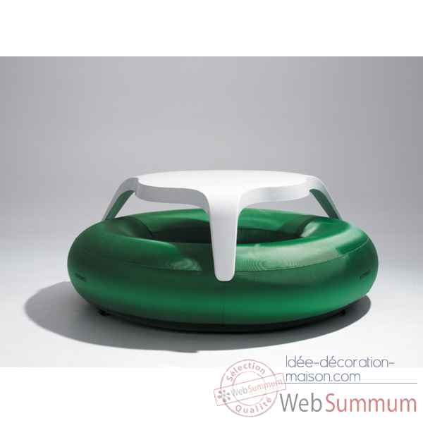 Table DoNuts Extremis avec assise verte -DTWBG
