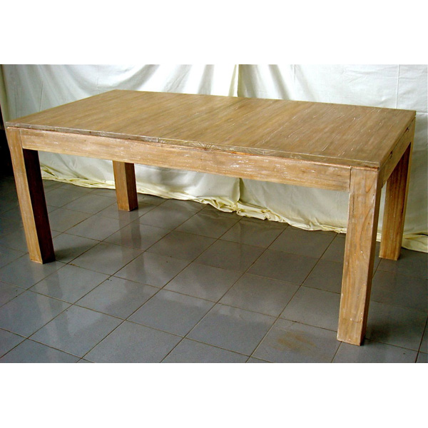 Vid o table rectangulaire avec rallonge meuble d 39 indon sie for Table rectangulaire a rallonge
