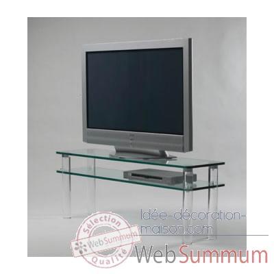 Table t l 130x35x48 marais pour cran lcd ou plasma de for Table pour tele
