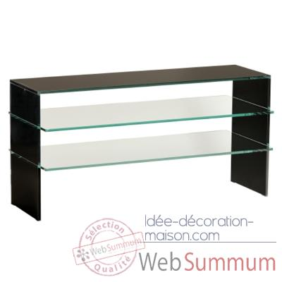 Table t l marais en verre coll tremp sur id e for Table tele en verre