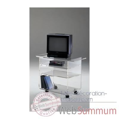 Table tele 90x39.6x60.5 Marais Hifi Video en PMMA -MTV69