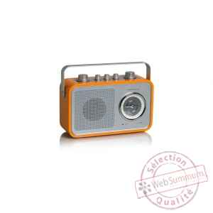 Radio am fm compacte portable orange tangent -uno 2go-o