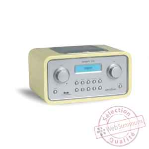 Radio de table am fm dab reveil laque jaune tangent -radio trio-lj