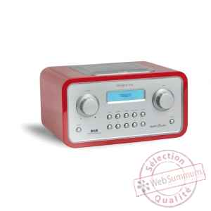 Radio de table am fm dab reveil laque rouge tangent -radio trio-lr