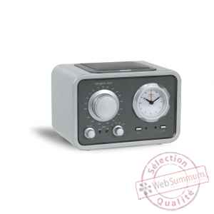 Radio de table am fm reveil laque silver tangent -radio duo-ls