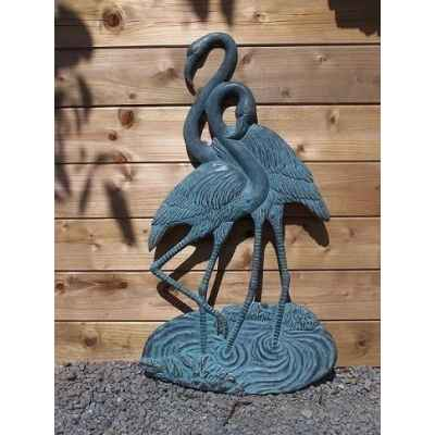 2 flamingo decoration murale -HW0733BR-V