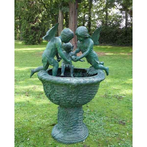 Fontaine avec 3 anges -B853